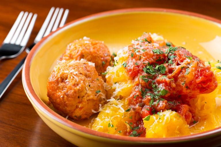 spaghetti-squash-turkey-meatballs