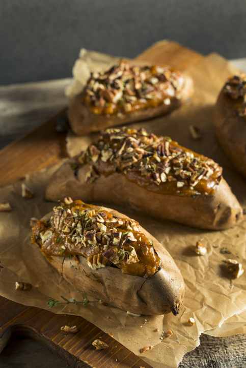 Pear-Stuffed Sweet Potatoes