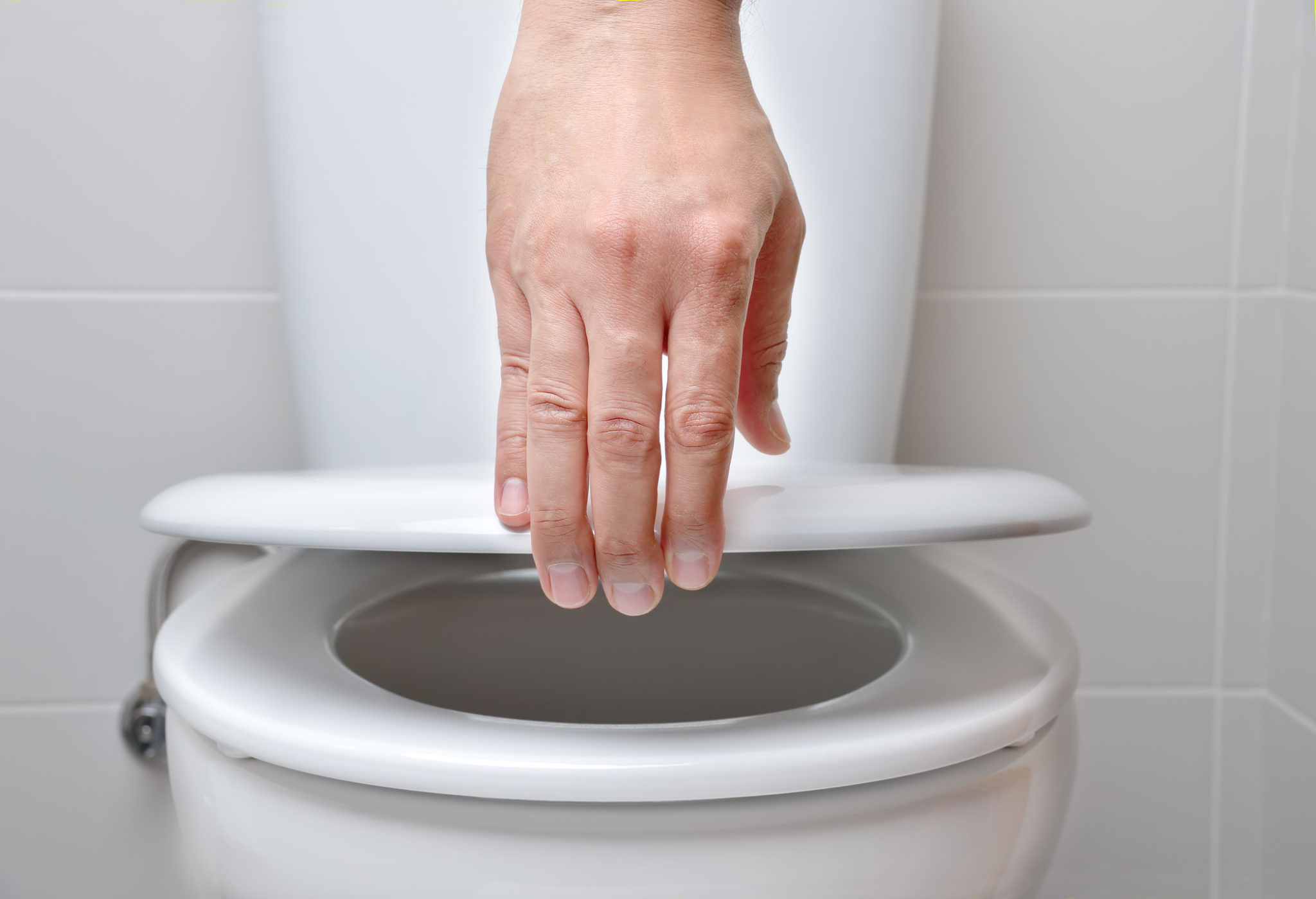 opening the toilet