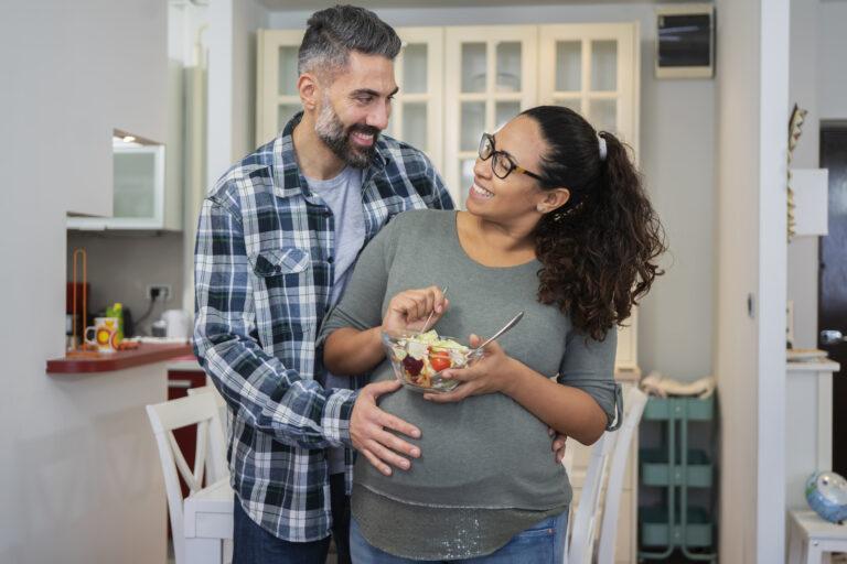 Mature multiethnic couple in kitchen