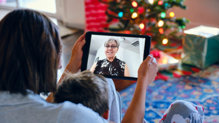 video call on Christmas