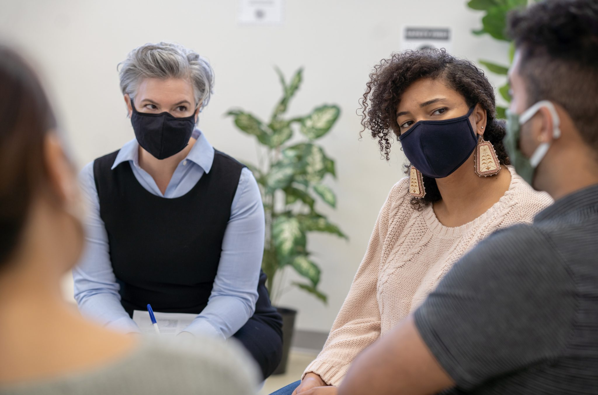 Multi Ethnic Group Therapy Stock Photo